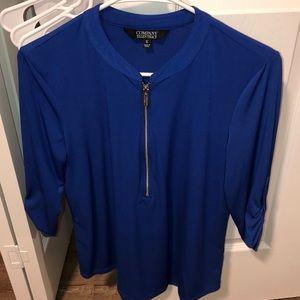 3/4 sleeve Blue Top